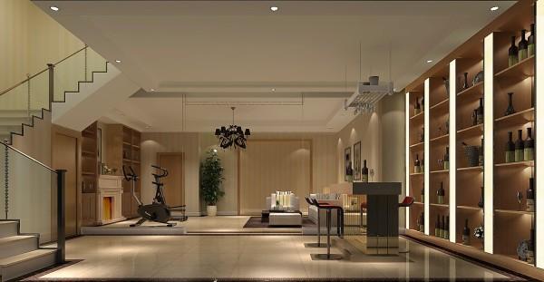 地下休闲区,现代风格简单明了,业主是白领精英,平时工作压力较大,通过设计师的设计,在颜色搭配上,还有视觉效果上使业主回到家以后有很放松的感觉,后期的效果更为显著。