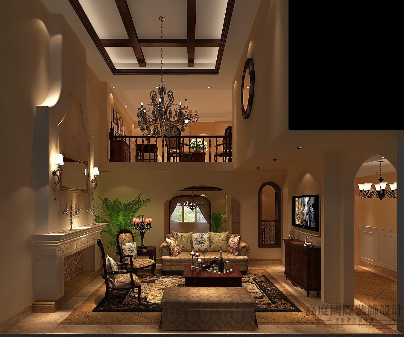 别墅 托斯卡纳 效果图 设计案例 客厅图片来自高度国际设计装饰在阿凯笛亚托斯卡纳设计案例的分享