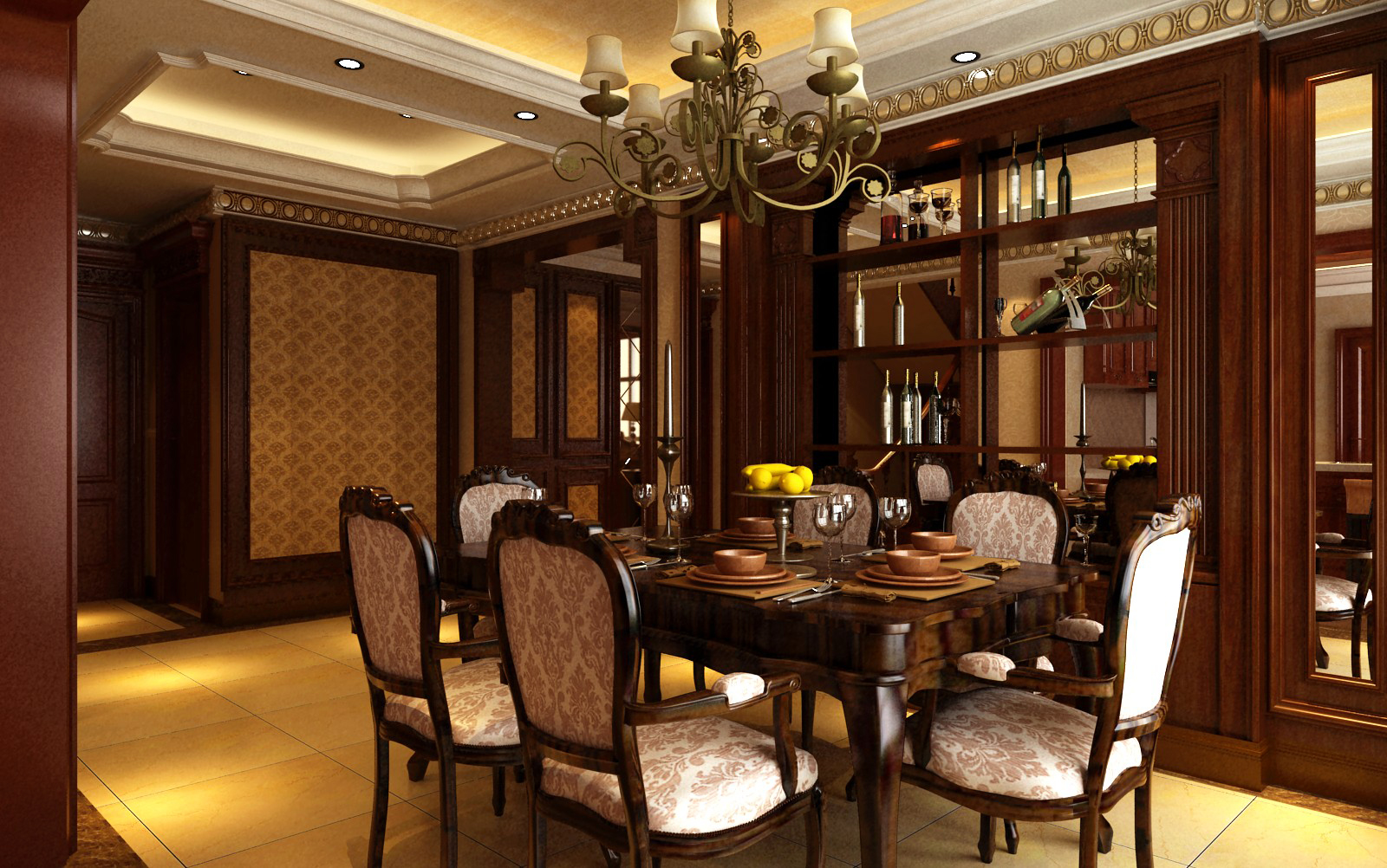 别墅 欧式 小资 餐厅图片来自东易力天装饰在思念果岭的分享