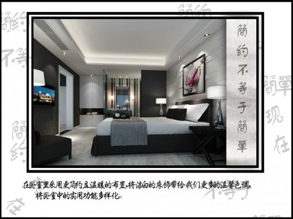卧室布置简单,大方。家居饰品也独显个性。