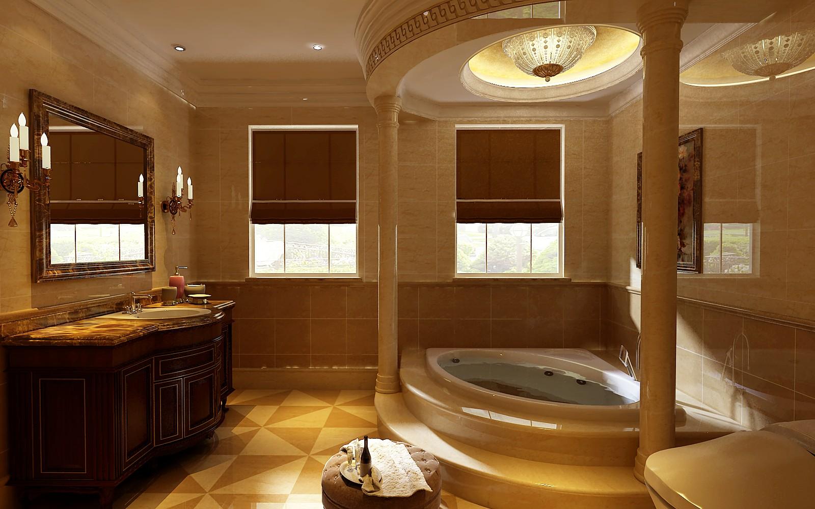 别墅 欧式 小资 卫生间图片来自东易力天装饰在思念果岭的分享