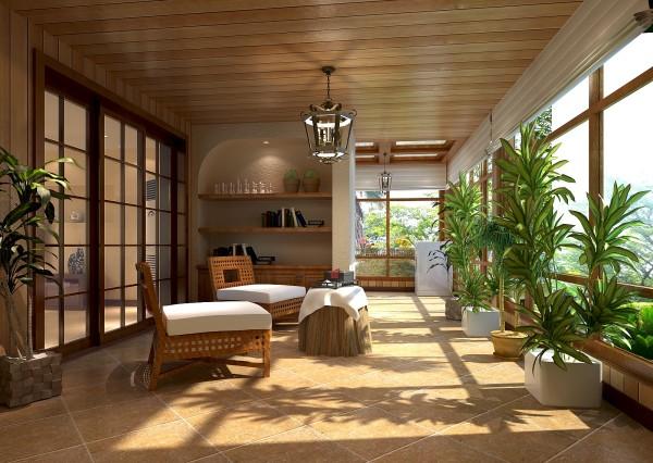 一层带花园,充分使用花园的空间来增加储物空间。为了契合一层的花园,在墙面处理上挑选了艺术漆的处理方式,更自然,更休闲。
