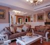 客厅的美体现在色彩的整体搭配上,清新自然,田园气息浓厚。