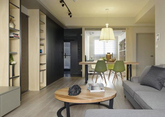 开放式的空间规划,将玄关、客厅以及餐厅一并整合,让视野更加宽广通透。