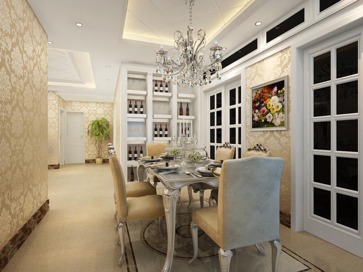 简约 欧式 三居 小资 餐厅图片来自实创装饰上海公司在19万打造三居室简欧低调风格装修的分享