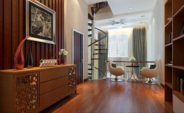 过道的整体显得高端大气,在家庭中客厅是一个连接休息与休闲场所的小憩之地。