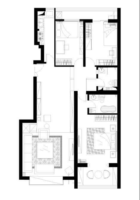 户型布置图三居室