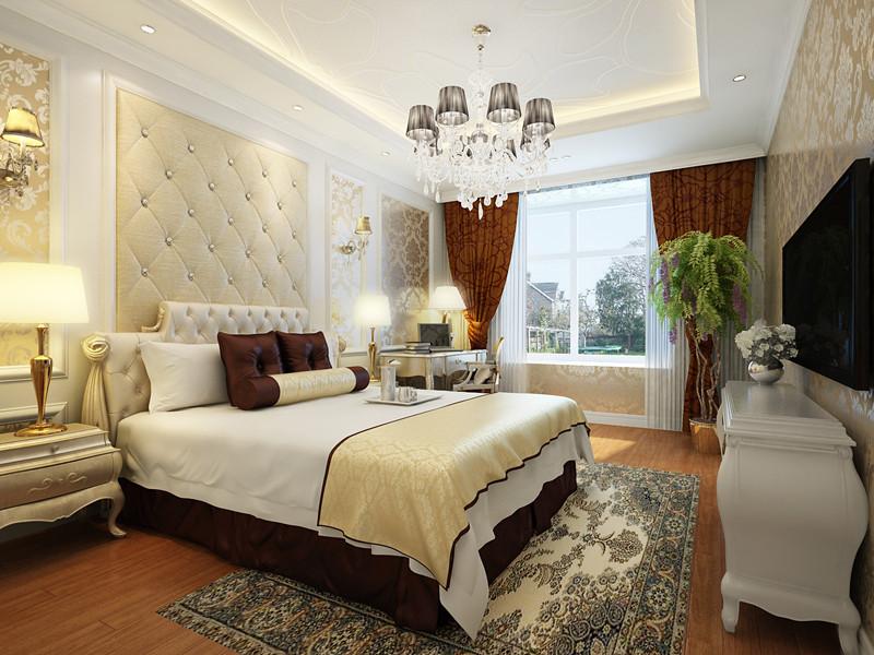 简约 欧式 三居 小资 卧室图片来自实创装饰上海公司在19万打造三居室简欧低调风格装修的分享
