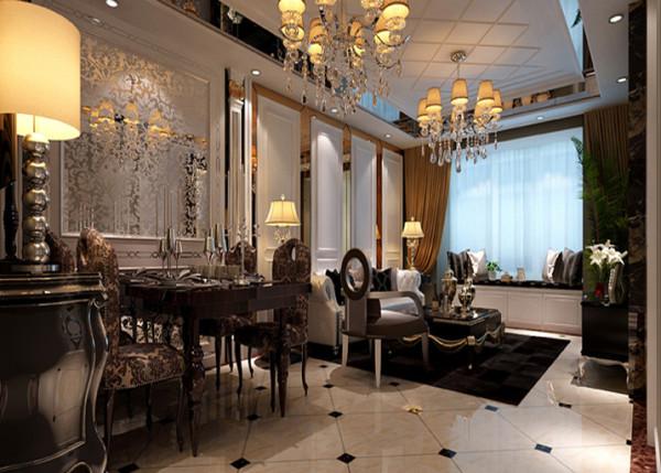 餐厅与客厅相连接,既要划分出餐厅的区域,又不能因为区域的划分而使空间割裂,失去大空间的明亮宽敞