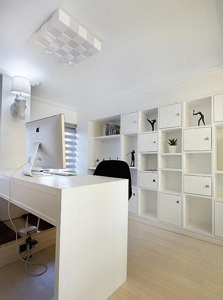 简约 三居 80后 白领 收纳 混搭 别墅 书房图片来自张顺在低调奢华现代简约细细品味感觉的分享
