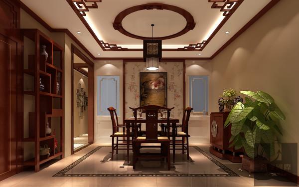 此空间作品设计理念来自于传统中国经久不衰的人文知识。红木、壁纸、抛光砖、木格相结合总体营造出的空间,让眼球充斥着尊老爱幼的文化底蕴