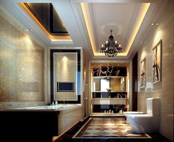 舒适,大气的卫浴空间。