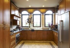欧式 别墅 现代 武汉别墅 舒适 厨房图片来自武汉实创装饰在现代与欧式的完美融合的分享