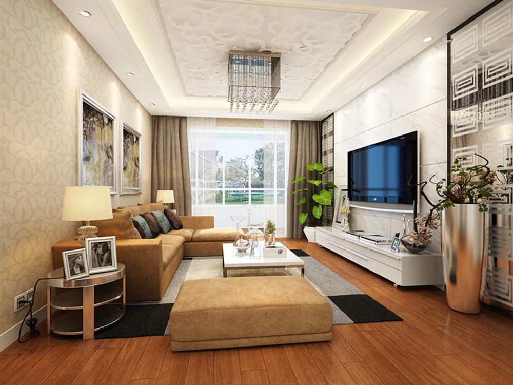 简约 三居 小资 客厅图片来自实创装饰上海公司在20万打造139平三居室现代装修的分享