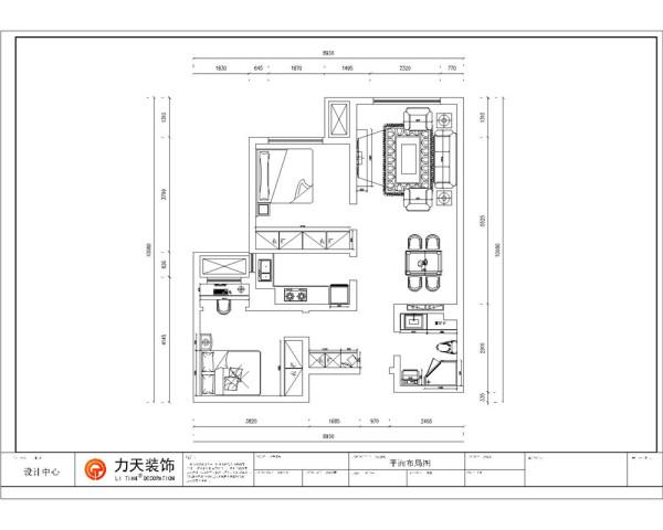 户型分析:     这个户型布局规整,功能分布齐全,入户门有个小的玄关,餐厅一边是客厅,厨房面积为长方形,厨房呈L型摆设,可供主人的日常烹饪。客餐厅的通风就十分的顺畅,且采光很好。