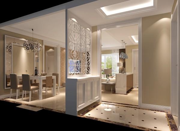 北京的老房,尤其是二环以内,普遍面积都不大.所以收纳空间和空间功能划分是最体现一个设计师的能力.门厅的玄关柜合理的解决了风水和餐厅的功能.