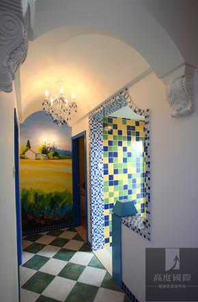 四居 地中海 温馨 装饰 设计 玄关图片来自高度国际装饰韩冰在地中海打造温馨的分享