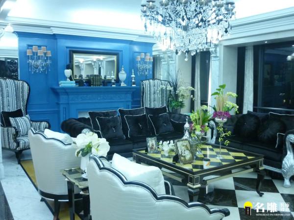 名雕装饰设计-中信红树湾三居室-欧式客厅