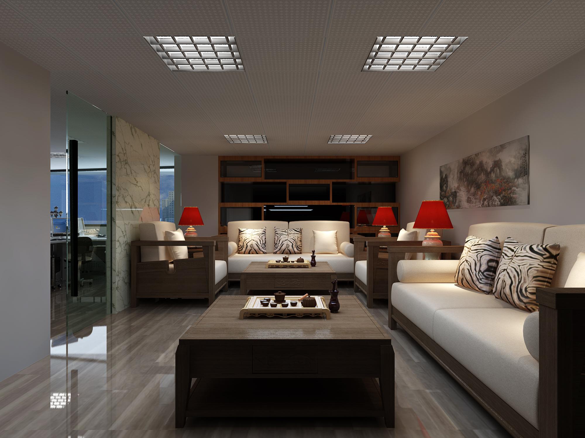 客厅图片来自鼎宸设计总监李建在半岛大厦华宇数码效果图的分享