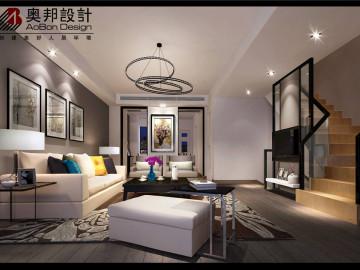 上海达安圣芭芭别墅现代极简风格