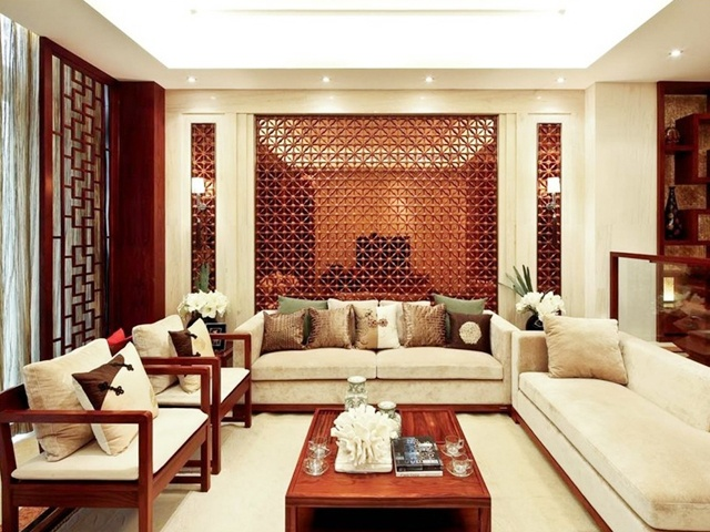 中式 大气 客厅图片来自合建装饰李世超在典雅大气中式一居的分享