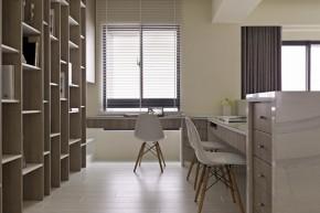 简约 现代 舒适 小清新 LOFT 书房图片来自幸福空间在140m²打造机能美开放空间的分享