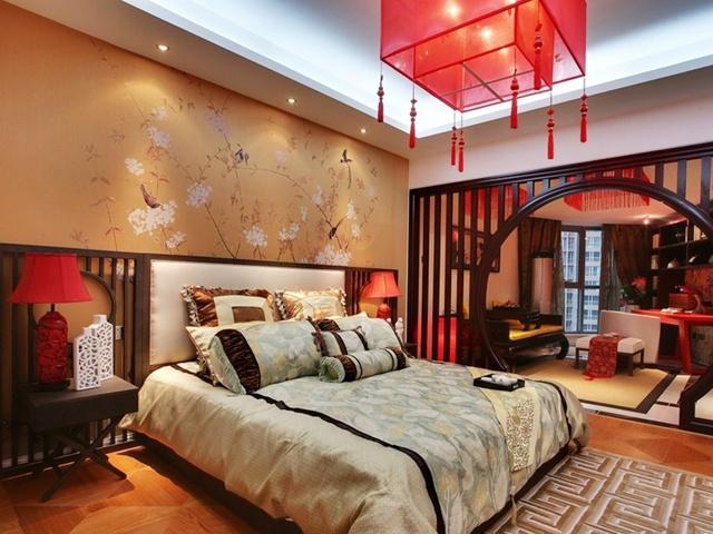 中式 大气 卧室图片来自合建装饰李世超在典雅大气中式一居的分享