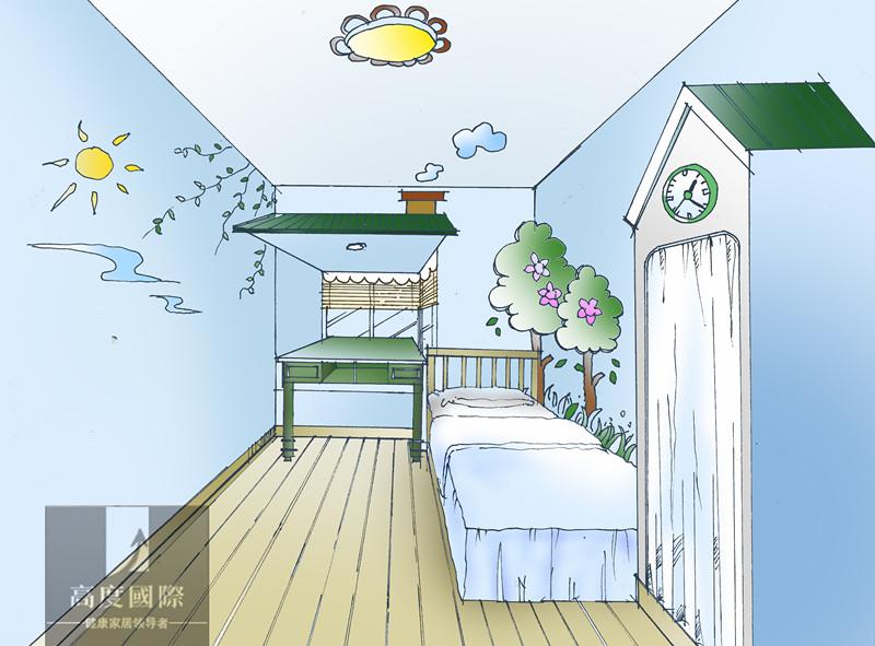 三居 地中海 轻松 舒适 生活空间 儿童房图片来自高度国际装饰韩冰在9至11世纪又重新兴起的独特风格的分享