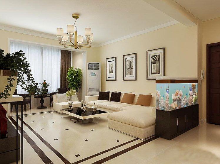 简约 三居 白领 收纳 80后 小资 客厅图片来自旭达装饰在【聚盛花园明日星城】的分享