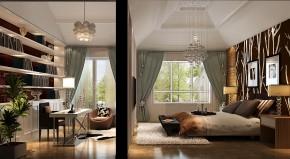 富力新城 简约 美式 高度国际 别墅 白领 80后 高富帅 白富美 书房图片来自北京高度国际装饰设计在富力新城美式别墅的分享