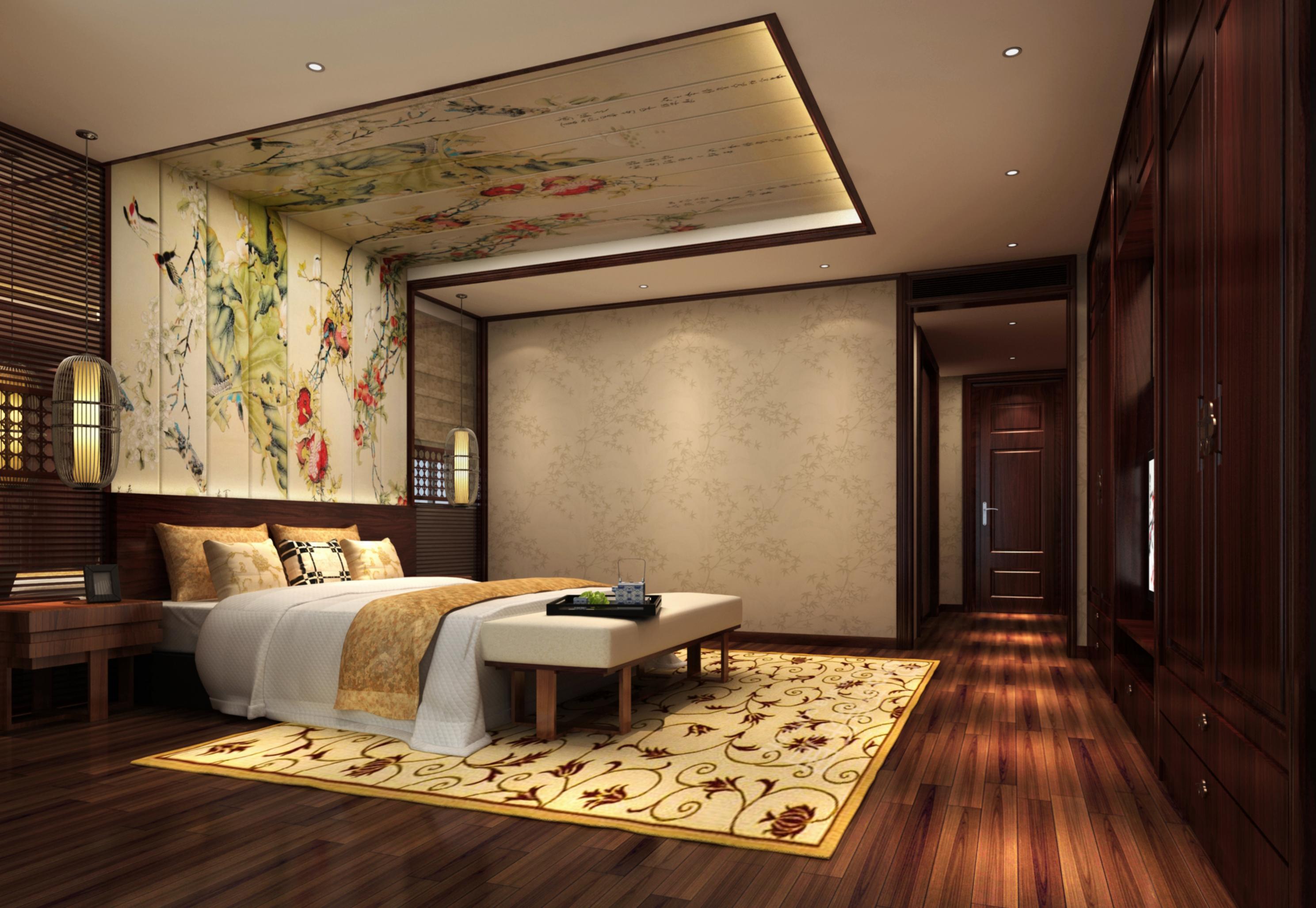 中式 4居 180平米 装修报价 家居风水 家庭装修 整体家装 室内设计 生活 卧室图片来自徐丽娟在大气、简约、沉稳为主基调,的分享