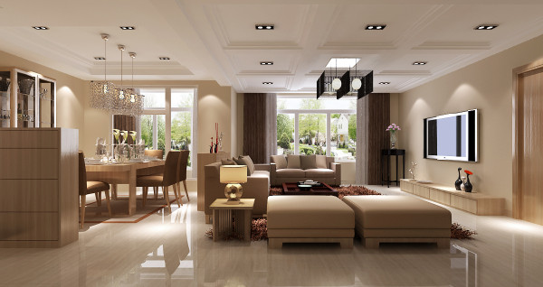 认为任何复杂的设计,没有实用价值的特殊部 件及任何装饰都会增加建筑造价,强调形式应更多地服 务于功能。室内常选用简洁的工业产品,家具和日用品多采用直线,玻璃金属也多被使用。