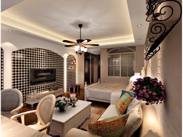 和平盛世43平米单身公寓简约风格