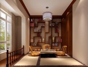 新中式 高度国际 三居 白领 80后 高富帅 白富美 公主房 小清新 书房图片来自北京高度国际装饰设计在东湖湾中国范的分享