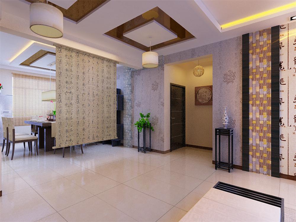 混搭 三居 白领 收纳 旧房改造 80后 小资 玄关图片来自实创装饰完美家装在简约稳重现代与中式完美结合的分享