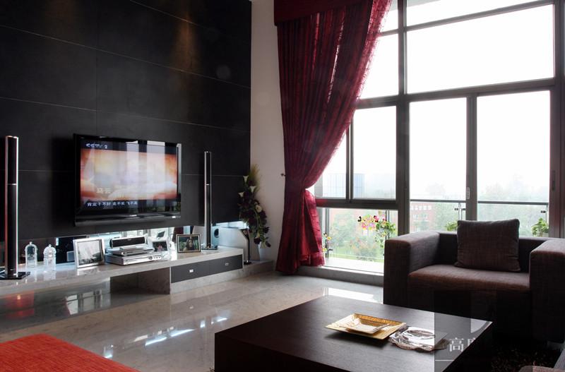 别墅 简约 现代 时尚 温馨 客厅图片来自高度国际装饰韩冰在翡翠城208㎡现代简约效果的分享