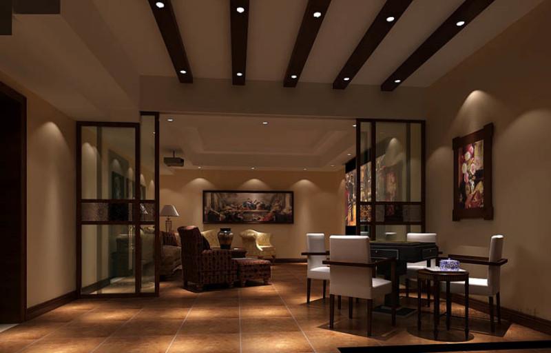 别墅 美式 效果图 设计案例 其他图片来自高度国际设计装饰在金隅翡丽230平米美式古典案例的分享