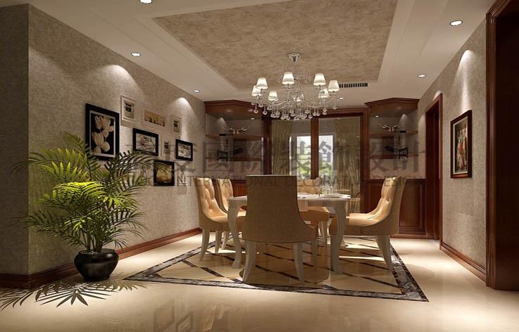 金隅翡丽 4居室 简欧 180㎡ 10万 高度国际 希文 餐厅图片来自高度国际装饰宋增会在金隅翡丽180㎡的分享