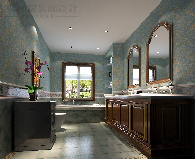 托斯卡纳 别墅 潮白河 效果图 装修 卫生间图片来自高度国际别墅装饰设计在潮白河孔雀城托斯卡纳风格设计的分享