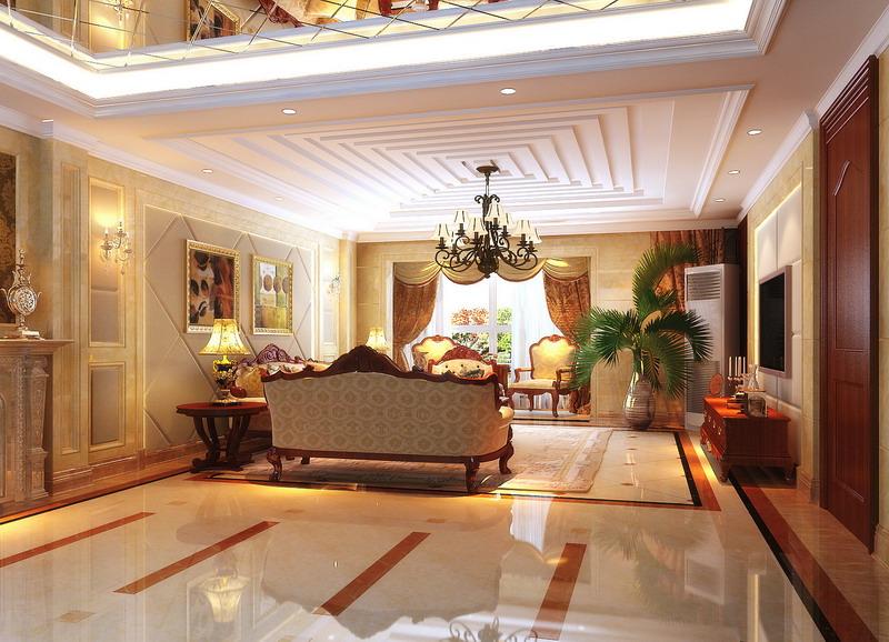 欧式 别墅 白领 世茂锦绣 武汉实创 客厅图片来自静夜思在世茂锦绣长江220平典雅欧式设计的分享