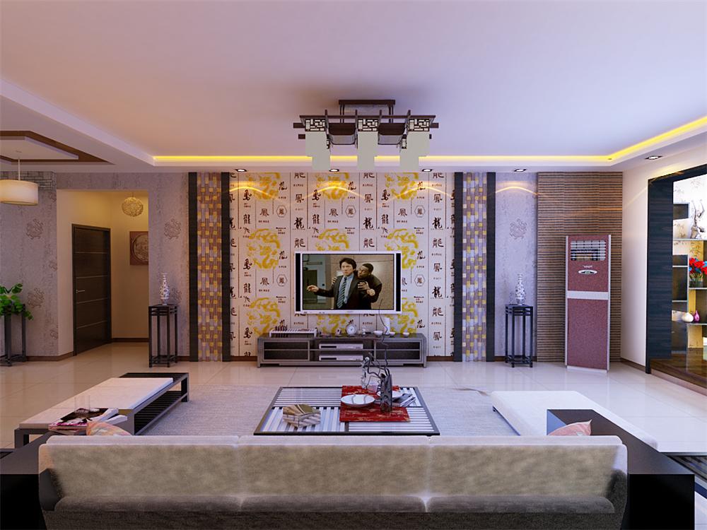 混搭 三居 白领 收纳 旧房改造 80后 小资 客厅图片来自实创装饰完美家装在简约稳重现代与中式完美结合的分享