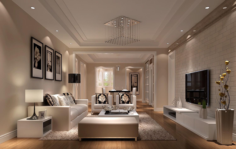 客厅图片来自沙漠雪雨在金色漫香苑140平简约三居的分享