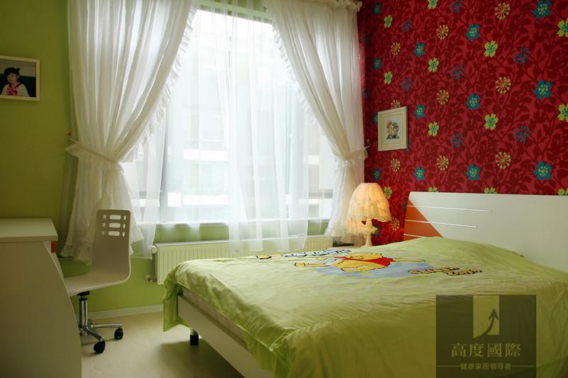别墅 简约 现代 时尚 温馨 卧室图片来自高度国际装饰韩冰在翡翠城208㎡现代简约效果的分享