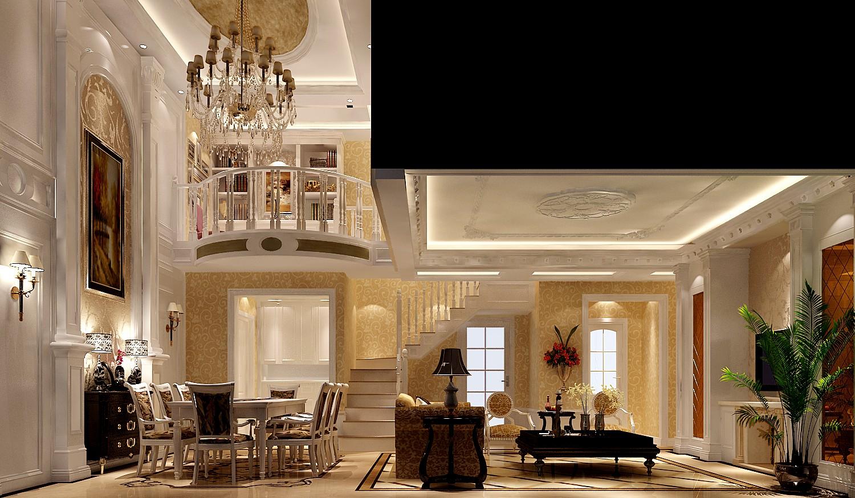 客厅图片来自沙漠雪雨在鲁能七号院190平欧式复式的分享
