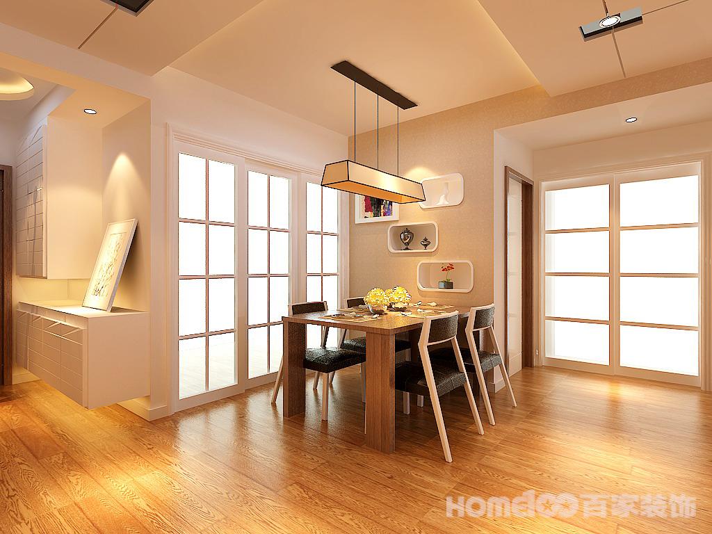 简约 三居 餐厅图片来自百家设计小刘在华润置地广场104平的分享
