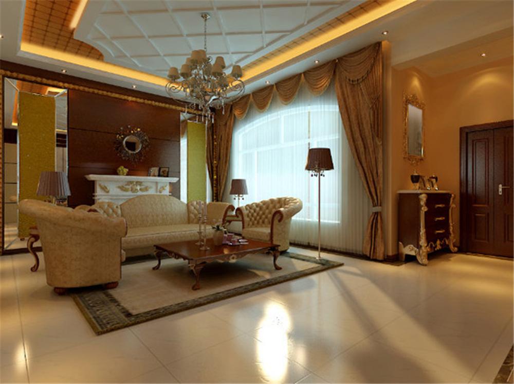 混搭 三居 白领 收纳 旧房改造 客厅图片来自实创装饰完美家装在美式风混搭新古典元素大气奢华的分享