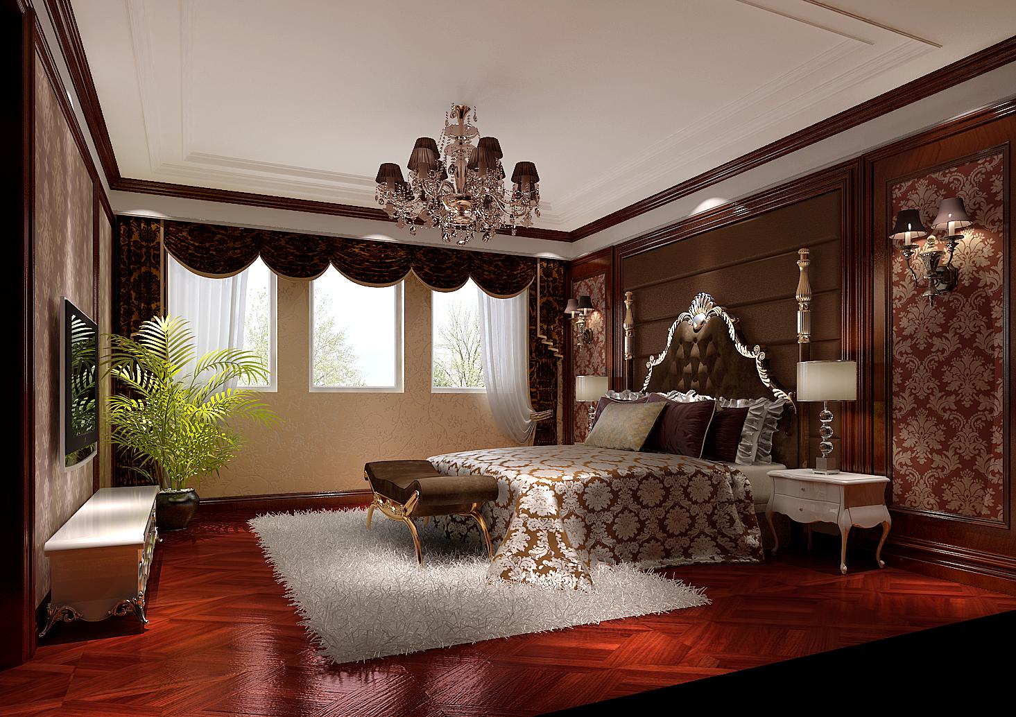 欧式 别墅 白领 北京装修 别墅装修 高度国际 卧室图片来自高度国际装饰华华在中海尚湖世家欧式别墅的分享