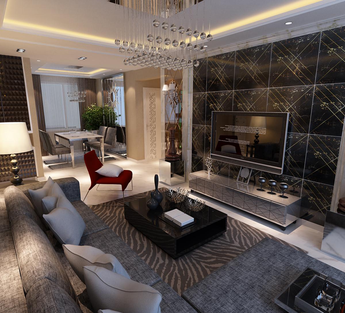 简约 二居 小资 客厅图片来自百家设计小刘在中海寰宇天下97平的分享