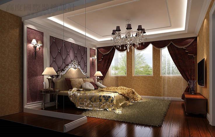 欧式 别墅 装修 效果图 设计 卧室图片来自高度国际别墅装饰设计在中海尚湖世家下叠别墅装饰设计的分享