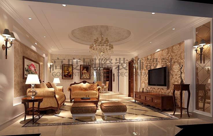 金隅翡丽 4居室 简欧 180㎡ 10万 高度国际 希文 客厅图片来自高度国际装饰宋增会在金隅翡丽180㎡的分享